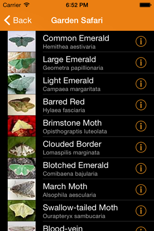 Gardensafari Moths and Butterflies voor iPhone